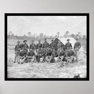 Caballería de Indiana en Petersburgo, VA 1864 Póster