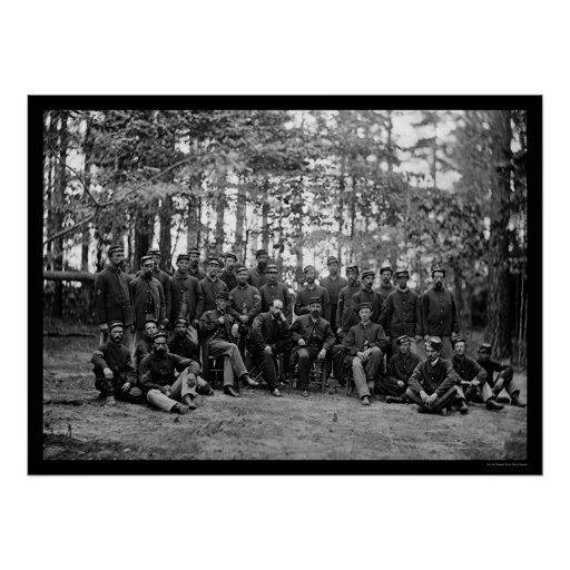 Caballería de Massachusetts en Petersburgo, VA 186 Póster