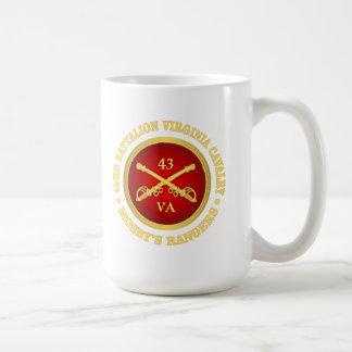 Caballería de Virginia del batallón de CSC -43rd Taza De Café