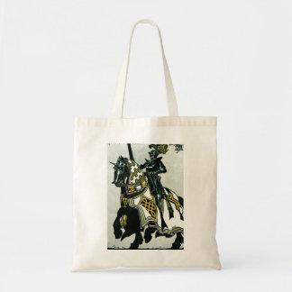 Caballero a caballo bolsa lienzo