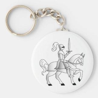 Caballero a caballo llavero personalizado