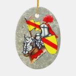 Caballero a caballo ornamentos de navidad