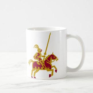 Caballero a caballo taza de café