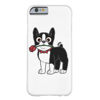 Caballero americano de Boston Terrier con el rosa Funda De iPhone 6 Barely There