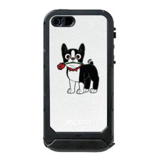 Caballero americano de Boston Terrier con el rosa Funda Para iPhone 5 Incipio ATLAS ID
