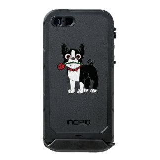 Caballero americano de Boston Terrier con el rosa Carcasa De Iphone 5 Incipio Atlas Id