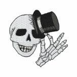 Caballero bordado del sombrero de copa del cráneo polo