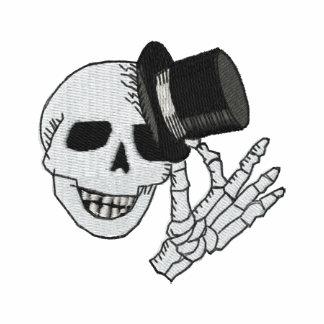 Caballero bordado del sombrero de copa del cráneo