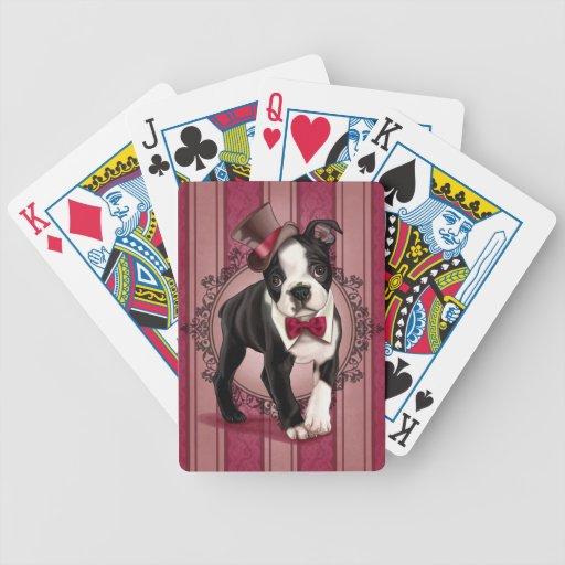 Caballero Boston Terrier Cartas De Juego