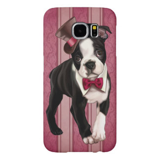 Caballero Boston Terrier Fundas Samsung Galaxy S6