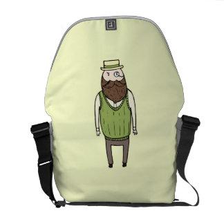 Caballero con el monóculo bolsa de mensajeria