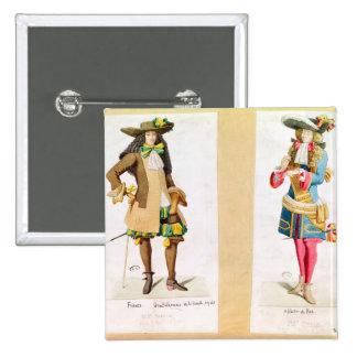 Caballero de la familia real pin cuadrada 5 cm