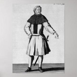 Caballero de la orden de Alcantara, c.1300 Póster