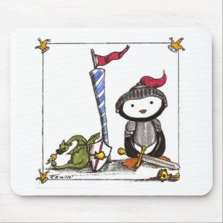 Caballero de la pluma alfombrilla de ratón