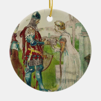 Caballero de Margon del och de Lisana Adorno Navideño Redondo De Cerámica