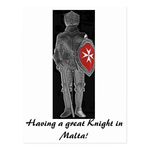 Caballero de St John, Malta (1) Tarjeta Postal