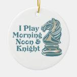 Caballero del ajedrez ornamentos para reyes magos