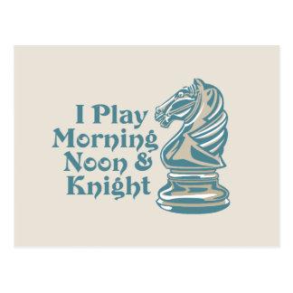 Caballero del ajedrez postales
