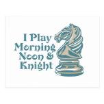 Caballero del ajedrez tarjetas postales