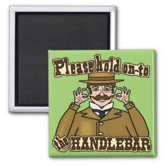 Caballero del bigote del manillar imán de frigorifico