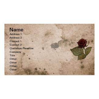 Caballero del color de rosa tarjetas de visita