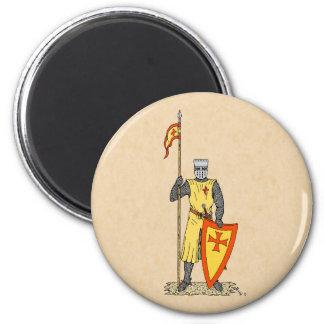 Caballero del cruzado, comienzo del siglo XIII, Imán Redondo 5 Cm