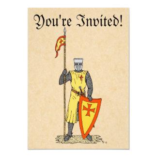 """Caballero del cruzado, comienzo del siglo XIII, Invitación 5"""" X 7"""""""