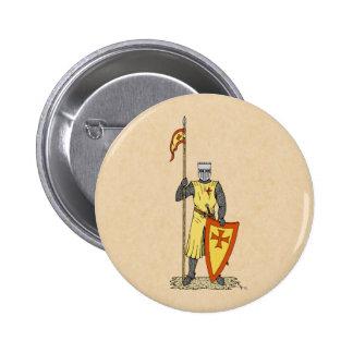 Caballero del cruzado, comienzo del siglo XIII, Pin Redondo De 2 Pulgadas