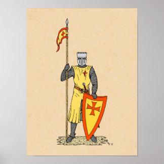 Caballero del cruzado, comienzo del siglo XIII, Póster