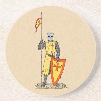 Caballero del cruzado, temprano décimotercero C., Posavaso Para Bebida