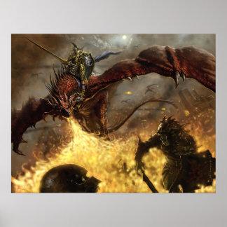 Caballero del dragón del sindicato póster