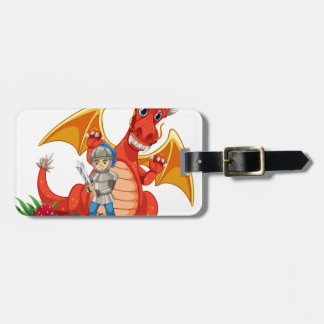 Caballero del dragón etiqueta de equipaje