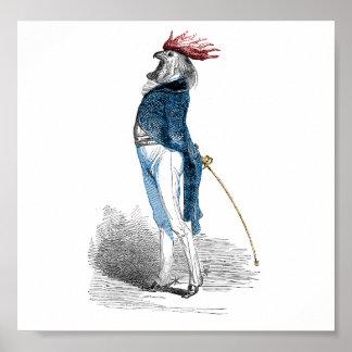 Caballero del gallo póster