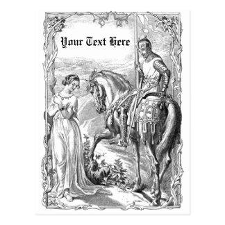 Caballero del Victorian Tarjeta Postal