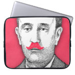 Caballero del vintage con el bigote rosado diverti mangas portátiles
