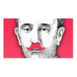 Caballero del vintage con el bigote rosado diverti tarjeta de visita