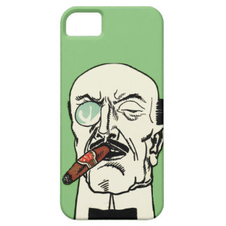 Caballero del vintage con el cigarro y el monóculo iPhone 5 carcasa