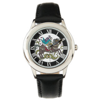 Caballero del vintage con los números romanos relojes de mano