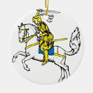 Caballero en armadura amarilla ornamento de reyes magos