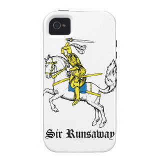 Caballero en armadura amarilla vibe iPhone 4 carcasas
