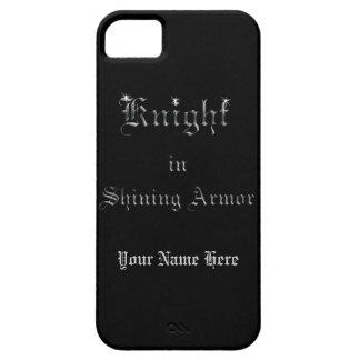 Caballero en armadura brillante funda para iPhone 5 barely there