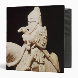 """Caballero en armadura en su caballo carpeta 1 1/2"""""""