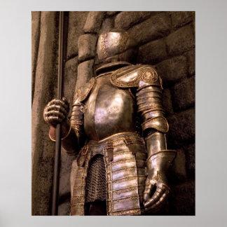 Caballero en armadura póster