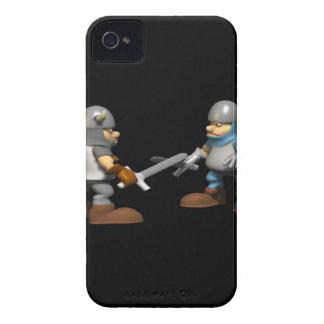 Caballero en armadura que lucha iPhone 4 cobertura