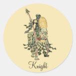 Caballero en caballo adornado con la lanza y Sh fl Etiqueta