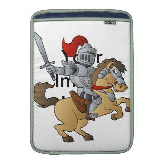 Caballero en caballo fundas macbook air