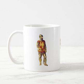 Caballero en el juego de la armadura tazas de café