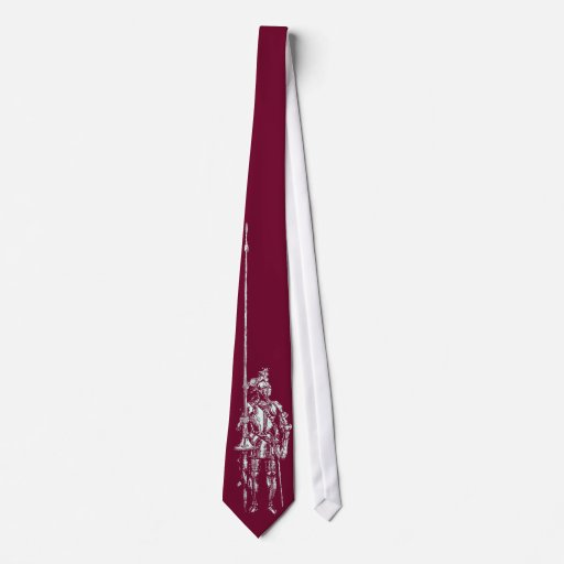 Caballero en lazo rojo del juramento de la sangre corbatas personalizadas