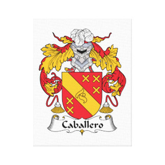 Caballero Family Crest Canvas Print