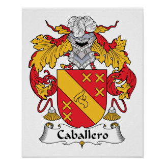 Caballero Family Crest Posters